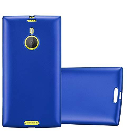Cadorabo Hülle für Nokia Lumia 1520 - Hülle in METALLIC BLAU – Handyhülle aus TPU Silikon im Matt Metallic Design - Silikonhülle Schutzhülle Ultra Slim Soft Back Cover Hülle Bumper