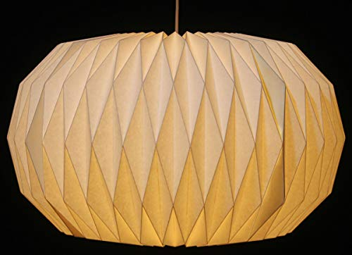 Guru-Shop Origami Design Papier Lampenschirm - Modell Venetia, 26x44x44 cm, Asiatische Deckenlampen aus Papier & Stoff