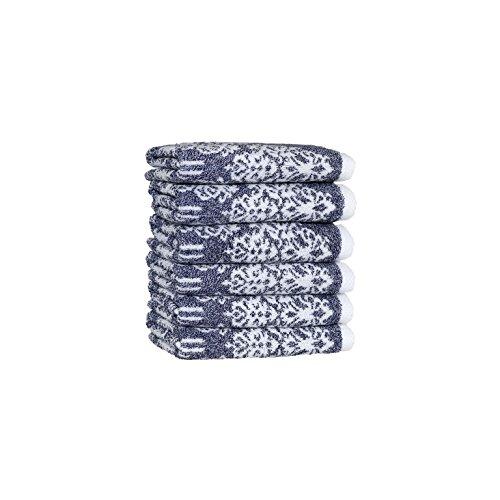 Linum Wohntextilien Gioia Premium Authentic Weich 100% Türkische Baumwolle Hotel Collection Waschlappen, Set von 6, ozeanblau, Set of 6 Washcloths