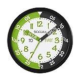 Orologio da parete Tikkers con quadrante bianco, nero e verde TKWC005