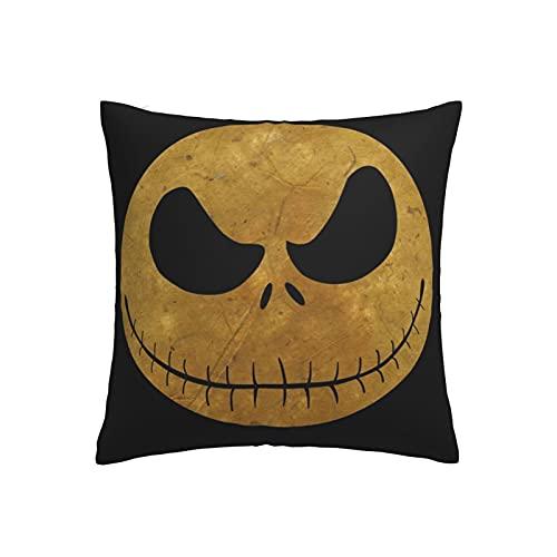The Nightmare Before Christmas - Funda de cojín cuadrada decorativa para sofá, coche, funda de almohada para decoración de cama de 45 cm x 45 cm, juego de 1