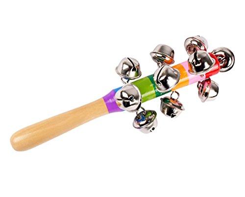 Demarkt–Campanas de mano Instrumento Musical para niños pequeños y bebés 18cm de largo 18 cm wie die Bilder B