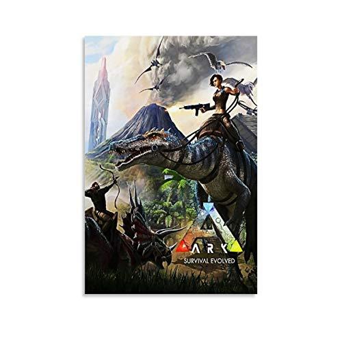 Ark Survival Evolution (2) Poster, dekoratives Gemälde, Leinwand, Wandkunst, Wohnzimmer, Poster, Schlafzimmer, Malerei, 20 x 30 cm