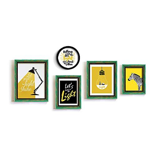 Grote fotolijst voor 5 foto's voor liefde familie en vrienden, collectie foto-opslag Home Wall Mount Picture Album, A