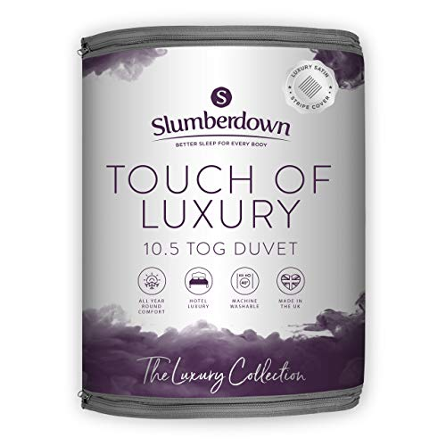 Slumberdown Touch of Luxury Duvet, Super King, 10.5 Tog All Year Round