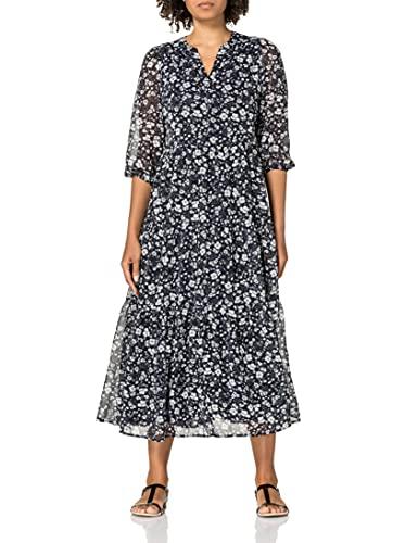 ESPRIT Damen 031EE1E304 Kleid, 403/NAVY 4, 40