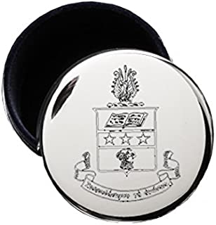 Alpha Chi Omega Crest Pin Jewelry Box for Alpha Chi Omega Necklaces & Rings
