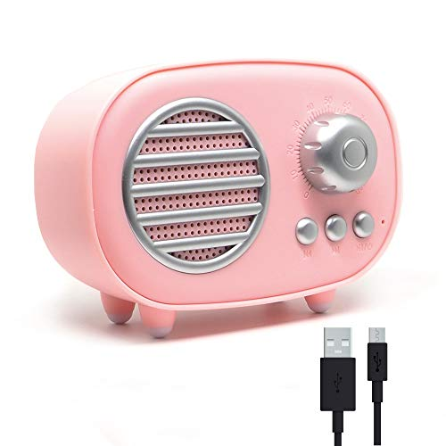 RAYPOW Altavoz Bluetooth Retro, Radio Portátil Pequeña Vintage para el hogar ·...