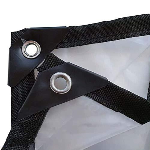 Lona Impermeable 3m×3m, Lonas con Ojales de Aluminio de Alta Resistencia, Sábanas de Lona de Plástico Ventana de Balcón Transparente Engrosada Lona Alquitranada Impermeable