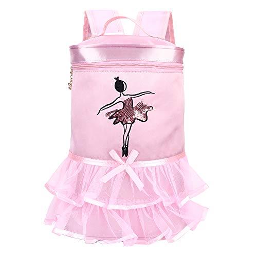 Rehomy Bolsa de baile de ballet con lentejuelas bolsa de hombro con asa para niños pequeños (rosa)