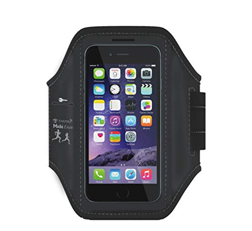 TANTRA® Mobi-Ease Adjustable Sports Running, Jogging,Gym Anti-slip Ultra-Light Weight Armband Mobile Holder (Large Size for Screen size upto 5.5 inches like iphone 6,6S plus&Samsung galaxy Edge S6,S7)