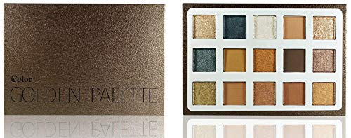 Ccolor Golden 15 Color Eyeshadow Palette - Highly Pigmented - Professional Formulation - Neutral Bronze Gold Eye Shadows - Makeup Palette