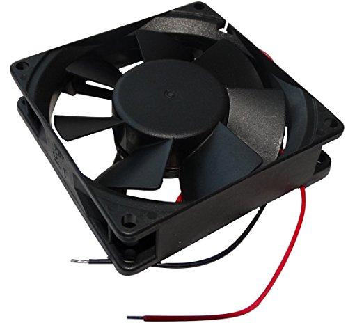 AERZETIX: Ventilador para Caja de Ordenador PC 24V 80x80x20mm 61,16m3/h 38dBA 3300rpm 1.54W 0.064A Vapo 2 Cables 24AWG C14597