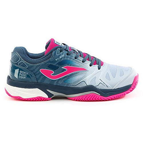 Joma T.Slam Lady 2004 Azul-Fucsia Clay, Running Shoe Womens, 40 EU