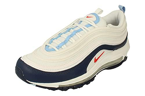 Nike Air Max 97 Uomo Running Trainers DM2824 Sneakers Scarpe (UK 6 US 7 EU 40, White Chile Red Midnight Navy 100)