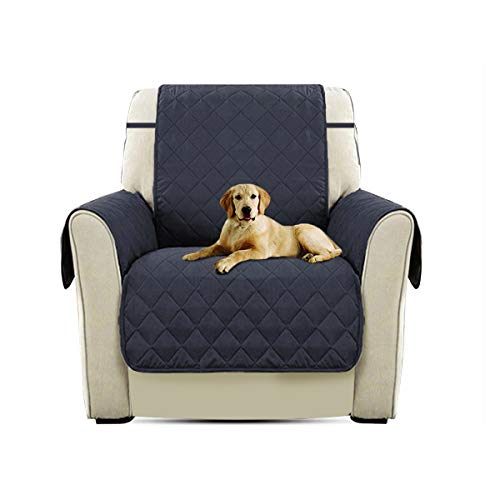 PETCUTE Lujo Cubre para Silla Fundas de Sofa Protector de sofá o sillón, Dos o Tres plazas Azul Profundo Silla