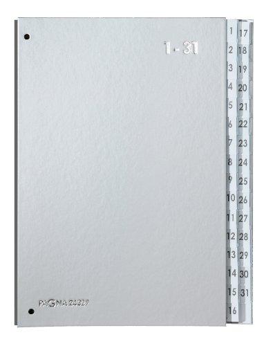Pagna Pultordner (Pultmappe, 32 Fächer, 1-31) Silber Color