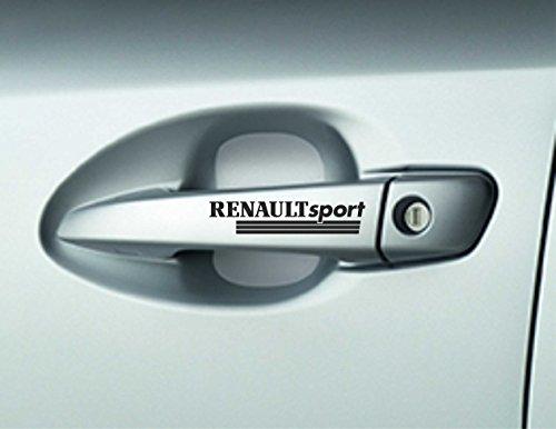 6 x Renault Sport-Türgriff-Aufkleber, Megane Klebstoffe Premium Qualität
