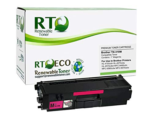 Renewable Toner Compatible Toner Cartridge Replacement for Brother TN-310M TN-310 HL-4150 4570 MFC-9460 9560 9970 (Magenta)