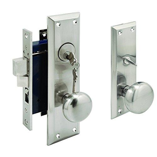Segal SE 27600 Entrance Mortise Lockset, 2-1/2 in. Backset, Wrought Solid Brass, Satin Nickel