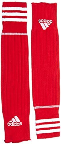 adidas Kinder Fußballstutzen 3 Streifen, University Red/White, 37-39, 067145
