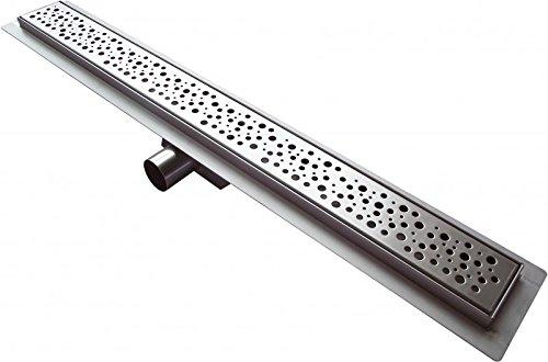 Edelstahl-Duschrinne G013 für Duschkabine inkl. Ablaufblende Trend - Länge wählbar, Länge Duschrinne:800mm