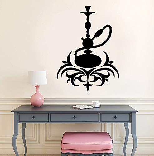 Relovsk Shisha Vinyl Aufkleber Schlafzimmer Arabische Kultur Rauchen Shisha Wandaufkleber Cafe Lounge Bar Wanddekor Aufkleber Wandbild 30 Cm X 42 Cm