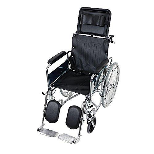 自走介助兼用 リクライニング車椅子 黒 TAISコード取得済 折り畳み 携帯バッグ付き ノーパンクタイヤ フルリクライニング車椅子 リクライニング フルリクライニング 自走用車椅子 自走式車椅子 自走用 介助用 自走 介助 車椅子 車イス 車いす ブラック