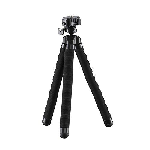 Mantona kaleido Flex leichtes Flex Stativ (mit hochwertigem 360° Kugelkopf, geeignet für Digital und Videokameras, Smartphones und Action Cams) night black