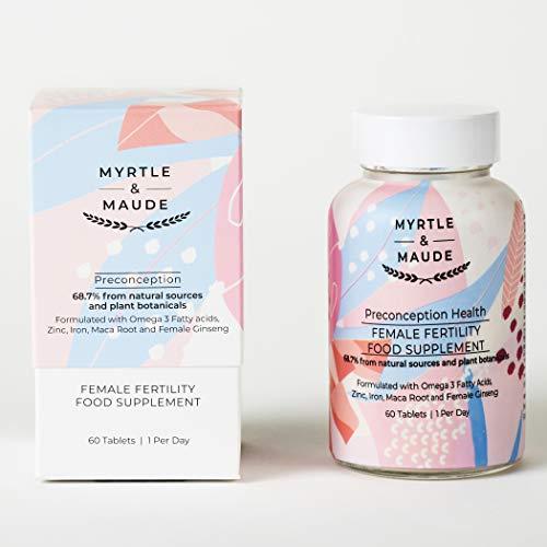Myrtle & Maude Fertility Vitamin for Women 60 Tablets - Made in UK
