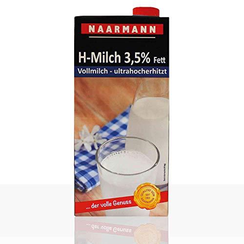 Naarmann H-Milch 3.5 Prozent, Drehverschluß, 12er Pack (12 x 1 l) Vollmilch