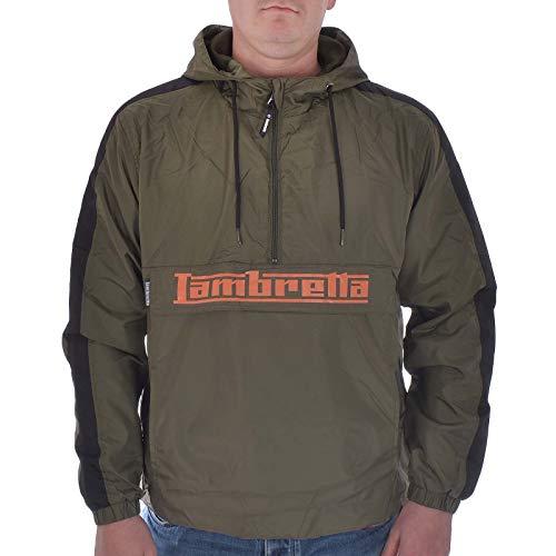 Lambretta Herren Jacke Gr. XXX-Large, Khaki/Orange - Taped