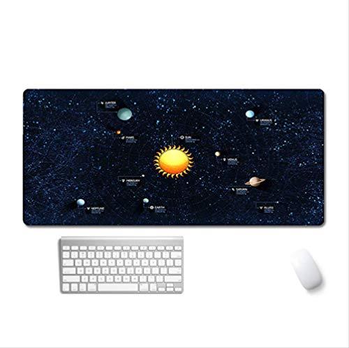 Solaranlage, 3 Mm Dicke Rutschfeste Gummiunterseite, Vergrößerte Tastatur Und Mausunterlage, Geeignet Für Pc Und Laptop