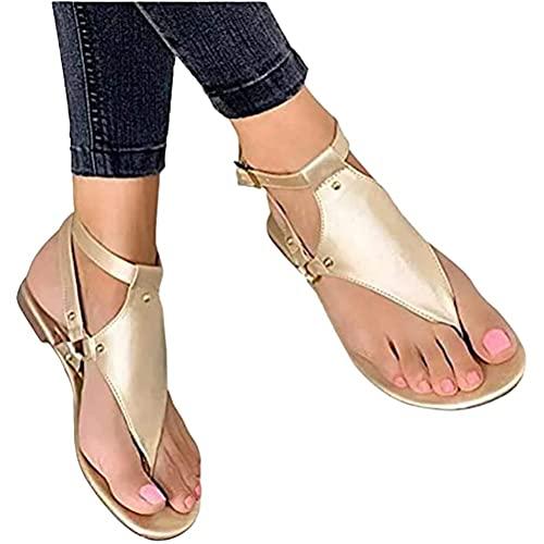 Osheoiso Damen Sommer Sandalen mit...