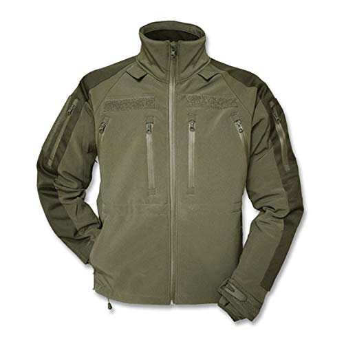 Copytec Tactical Kommando Softshell Jacke KSK Spezialkräfte Security Dienstjacke #14084, Größe:L, Farbe:Oliv