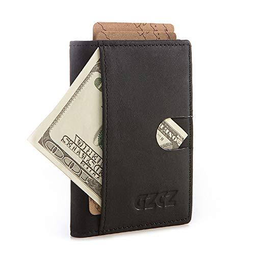 Yehyep Carteras para Tarjetas de crédito para Hombres, Bloqueo RFID Estuche Compacto para Tarjeta de débito y crédito de Cuero Genuino, Suave y Delgado