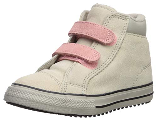 Converse Girls' Chuck Taylor All Star 2V Pc Boots On Mars Sneaker, Natural Ivory/Coastal Pink, 3 M US Infant