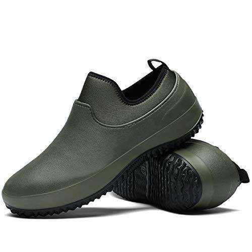 Chaussure de Cuisine Impermeable Résistantes à l'huile Caoutchouc Unisex pour Jardinage Antiderapant Sabots de Chef Legere Respirant Adulte