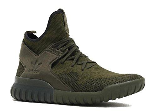 Adidas Tubular X PK Herren-Sneaker, Grn (Midnight Cargo / Black-Midnight Cargo), 43 EU