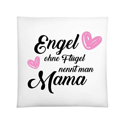 CVLR Engel ohne Flügel nennt Man Mama kussen decoratief kussen sierkussen met vulling 40x40cm in wit