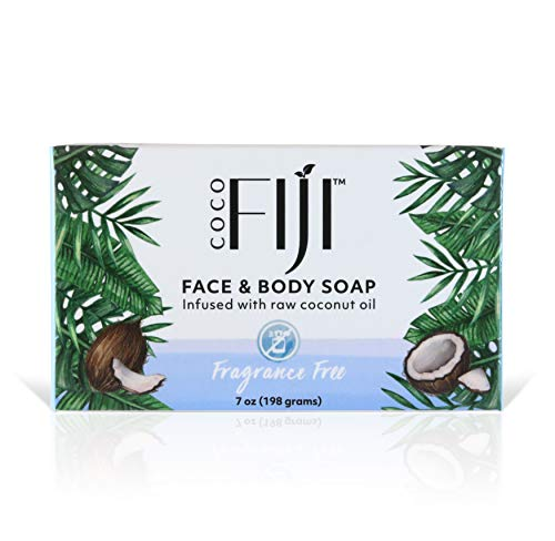 Organic Fiji, Organic Face and Body Coconut Oil Soap, Fragrance Free, 7 oz (198 g) Bar