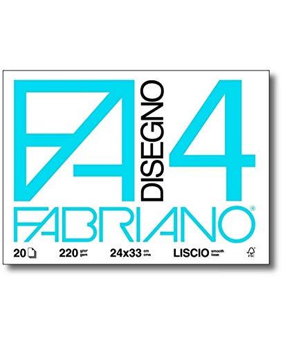 Fabriano 009060 Cartella Fabriano F4, Ruvido, 20 Fogli, 33 x 48 cm