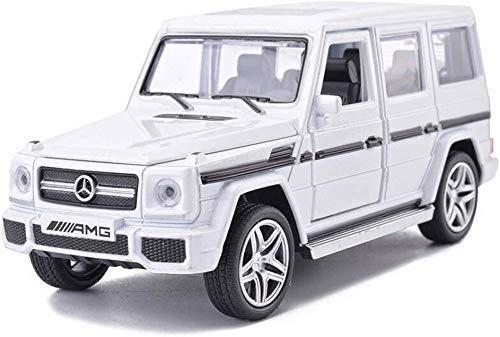 TYZXR Automodell 1:32 Mercedes Benz AMG G65 SUV Simulationslegierung Druckguss CAR Toy Modell Kollektion Dekoration 15.5x6x6.3CM (Farbe: Weiß)