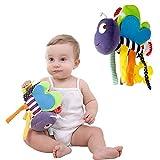 Purplert Cute Bees Baby Plush Comfort Doll - Cama de Coche Juguetes Decorativos Colgantes para niñas y niños Juguetes de Cuna recién Nacidos Juguetes de Asiento de automóvil Juguetes de Cochecito