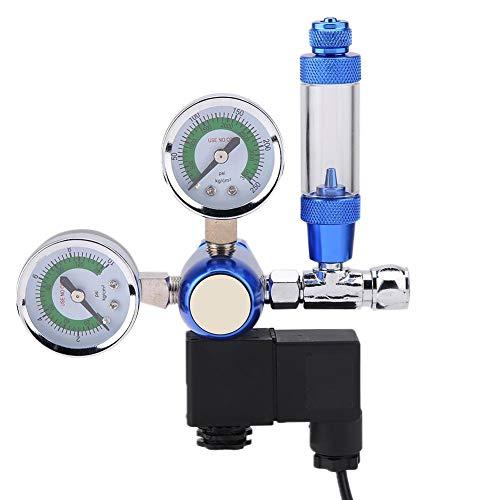 Régulateur de CO2 d'aquarium 220V G5 / 8 Réservoir de Poissons CO2 Jauge de Pression Clapet Anti-Retour Compteur de Bulles Système de CO2 pour Plantes Aquatiques avec solénoïde