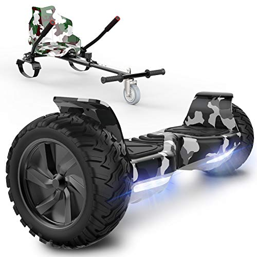 """SOUTHERN-WOLF Hoverboard 8.5"""" avec Hoverkart, Gyropode Auto-équilibré Overboard Bluetooth avec indicateur LED"""