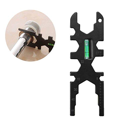 Herramienta multifuncional, llave ajustable, llave de baño, llave de zócalo universal, llave grifo multifuncional Llave de grifo ajustable Fregadero de la instalación herramienta de reparación multifu