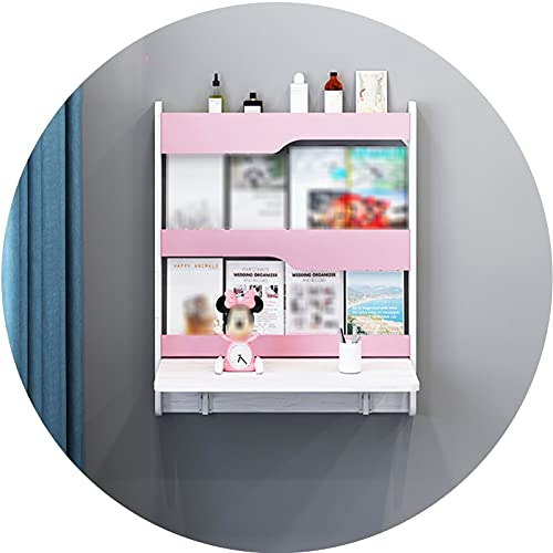 AWSAD Plegable Mueble Pared Estrecho de Madera por Escritorio de Estudio Escritorio de Computadora Mesa Pared, Estable/Que Ahorra Espacio (Color : A, Size : 820X900X780Mm)