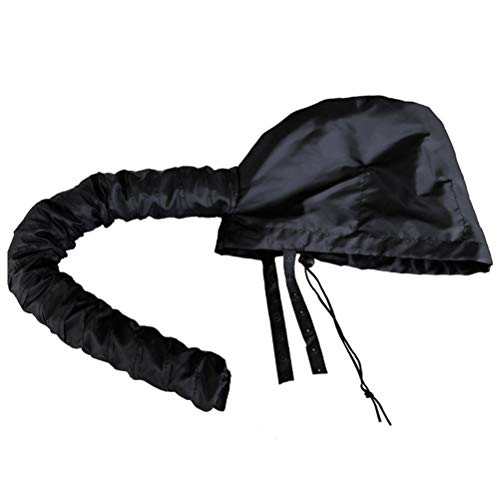Bonnet Hood Hair Dryer Attachment Hand Held with Grip Hose Portable Steamer Cap Black