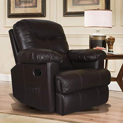 Alcanes ALRC 0050 Single Seater Recliner (Leatherette, Brown)